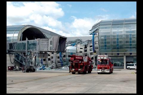 The terminal that collapsed in 2004, with tragic consequences.